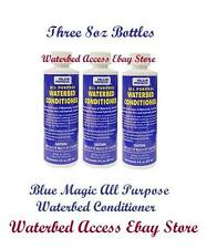 3 Lg. (8 OZ) PREMIUM BLUE MAGIC ALL PURPOSE WATERBED MATTRESS CONDITIONER