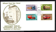 (Ref-8214) Guernsey 1979 History of Public Transport SG.203/206 First Day Cover