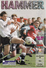 West Ham United v Liverpool FA Youth Cup Final 1st Leg 30/4/96 (1995-1996)