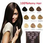 8 PZ 100g Remy Hair ALLUNGAMENTO 53CM EXTENSION FASCIA CAPELLI VERI 100% 17 CLIP