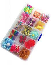 1 BOX flower Small Pet Dog Cat Hair Bows Clips Rubber bands Grooming Accessories