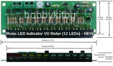 Mono LED indicator VU meter 12x 3mm LEDs Sound Meter - Fully Assembled HK1520
