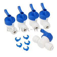 "5pcs 1/4"" OD Tube Ball Valve Quick Connect Equal Straight Fitting for RO Water"