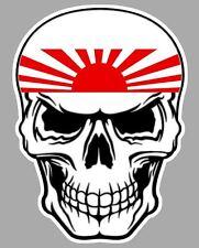 TETE DE MORT JAPON JAPAN KAMIKAZE AUTOCOLLANT STICKER 10cmX8cm SA168