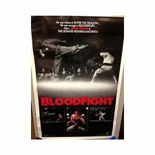 BLOOD FIGHT Original Home Video Poster Bolo Yeung