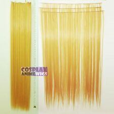 Golden Blonde Hair Weft Extention (3 pieces) - 60cm High Temp - Cosplay 7_953