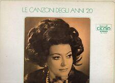 NILLA PIZZI disco LP 33 giri LE CANZONI DEGLI ANNI 20 stampa ITALIANA 1974