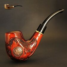 """HAND CARVED, EXCLUSIVE TOBACCO SMOKING PIPE   """"Nordic""""  PEAR  Artisan Job"""