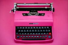 PINK TYPEWRITER - OLIVETTI 32 - Portable Manual typewriter - Black Friday