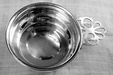 Web porringer NO mono mid-century Pattern 528 in sterling silver