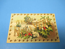 Happy New Years 1910 Postmarked Vintage Color PC32