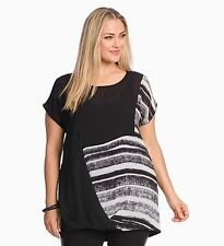 Taking Shape Plus Size 16 Black White Tunic Top NWT Fit Plus Size 18/20