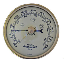 "NEW 2-3/4"" Ivory Barometer Insert or Fit-up Weather Movement Instrument (C-580)"