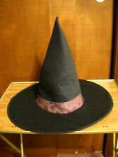 BLACK & PURPLE HALLOWEEN WITCH HAT ADULT SURPLUS STORE ITEM