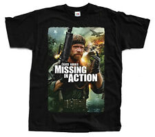 MISSING IN ACTION Chuck Norris, Movie poster ver. 1 T-shirt (Black) S-5XL