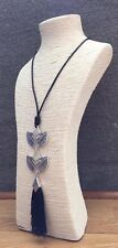 LAGENLOOK AMAZING BEAUTIFUL QUIRKY LONG ART TALISMAN PENDANT NECKLACE*SILVER*