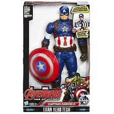 Marvel Avengers CAPTAIN AMERICA Titan Hero Tech 12Inch Talking Figure Electronic