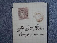 FRAGMENTO SOBRE AÑO 1869 FECHADOR DE BARCARROTA BADAJOZ -RARO- EDIFIL 98