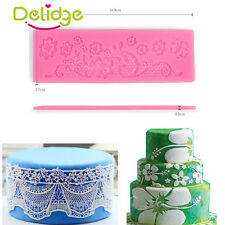 Flower Relief Silicone Lace Mat Fondant Mold Sugarcraft Cake Decorating Mould