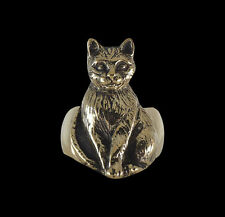 Bronze Bastet Ancient Egyptian Cat Ring - Any Size - Free Shipping