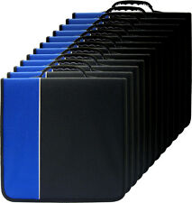 (12) CRY-E360BL 360 Disc Capacity Black & Blue CD DVD Binders Storage Media 350