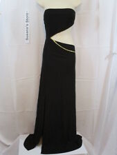 NWT BEBE STRAPLESS CUTOUT MAXI DRESS SIZE M Haute bod.Ultra-glam Cut-out mid sec