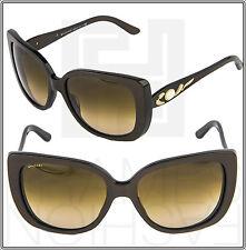 BVLGARI Jeweled 8090BM 897/13 Cocoa Gold Sunglasses 8090 Cat Eye Women Gradient