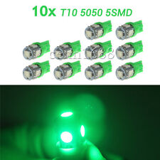 10pcs green T10 5050 W5W 5 SMD 194 168 LED Wedge Car Light Lamp Bulb 12v