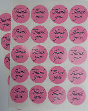 40 Round Thank You Stickers High Quality For Fundraising - Pink (140-03)