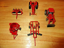 Set of 5 ERTL I.H. Case MX 100 Tractor with Loader, Mixer Mill and a Disc Mixer