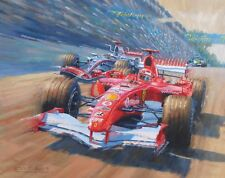 Michael Schumacher F1 Ferrari Brazil Grand Prix Motor Sport Racing Car Art Print