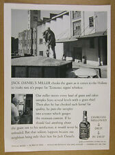 1963 Jack Daniel's miller checking truck load of grain photo vintage print Ad