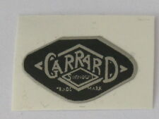 GARRARD 4HF,ETC REPLACEMENT STICK ON LOGO,1970s, Black,Parts