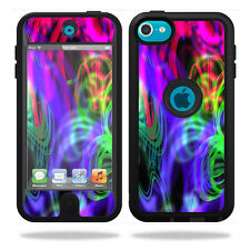Skin Decal Wrap for OtterBox Defender iPod Touch 5G Case Neon Splatter