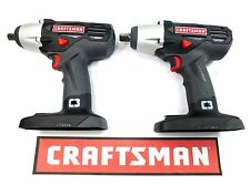 (2) NEW CRAFTSMAN C3 19.2v VOLT 1/2 INCH CORDLESS IMPACT WRENCH GUN 315.116