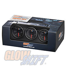 Black 7 Color Diesel Gauge Set - 60 Boost, 1500 Pyrometer EGT, Trans Temp Gauges
