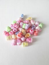 100pcs acrylic 9x5mm skull beads mix colour jewellery making craft UK.