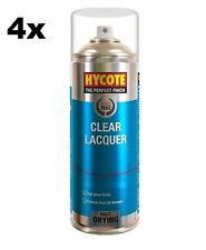 4x HYCOTE XUK0232 Clear Lacquer Aerosol Spray Paint 400 ml