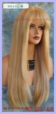 PREMIUM HUMAN HAIR WIG SKIN TOP WIG BEWITCHING FOXY SEXY STYLE CLR F27.613  *237