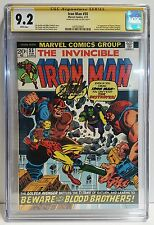 Iron Man #55 CGC 9.2 SS Stan Lee - WHITE pages - 1st App DRAX & THANOS 1973