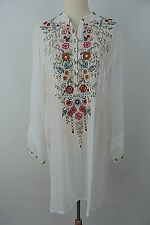 New Johnny Was Embroidered Casual Tunic Size L
