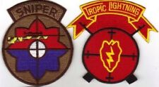 * 2 SNIPER PATCHES - 9th DIVISION  & 25th DIVISION