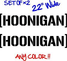 Hoonigan Banner set x2 Pair 22 inch Decal vinyl sticker JDM Ken Block drift HOON