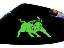 BULL RATON Auto Adesivo Specchietto Laterale Styling decalcomanie (Set di 2), Verde Neon