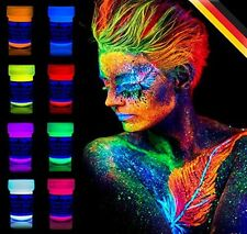 8 x UV Body Paint Black Light Make-Up Bodypainting Neon Blacklight Bodypaint