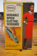 Vintage 60-07's Scovill Dritz Variable Speed Electric Scissors with Orig. box