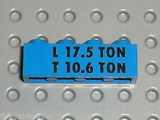 LEGO VINTAGE train Brick w. L 17.5 TON / T 10.6 TON Pattern 3010px34 / 124 132