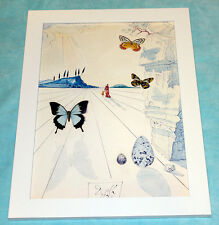 Salvador Dali butterflies framed giclee canvas print 8X12 reproduction