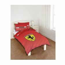 FERRARI SCUDERIA ROUGE SET HOUSSE DE COUETTE SIMPLE NEUF OFFICIEL LITERIE CARS