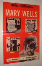 "REPRO Motown 11"" x 16"" laminated POSTER MARY WELLS xmas gift"